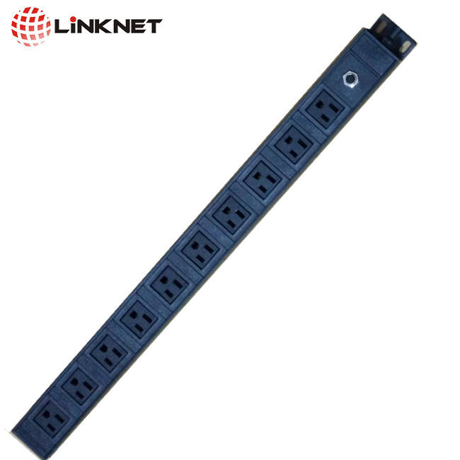 UL listed pdu, 10 sockets, surge protection, switch included, 1U. 2m wire with plug. Power Distribution Unit