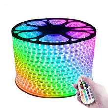 220V 110V LED Strip 5050 50m 100m IP67 Waterproof RGB Dual Color Rope lighting