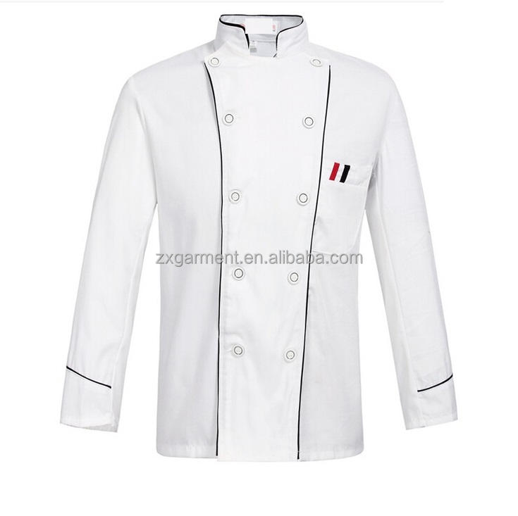 2018 ZX Dould-breasted chef <span class=keywords><strong>jas</strong></span>/Double-Breasted chef <span class=keywords><strong>jas</strong></span>/Breasted chef uniform