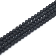 Natural Matte Finish Black Onyx Agate Gemstone Round Loose Beads For Jewelry Making Findings Accessories