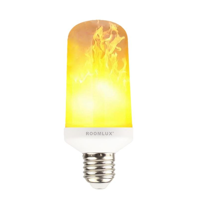 LED Flame Effect Fire Light Bulbs 5W AC 85-265V Flickering Emulation Decorative Lamp
