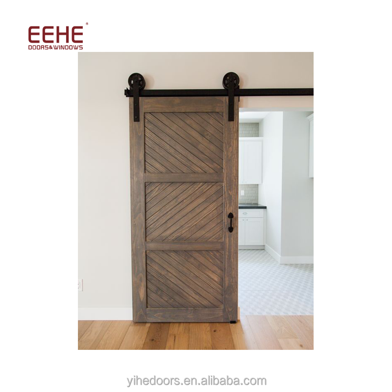 Barn door hardware solid wooden door Malaysia in high quality