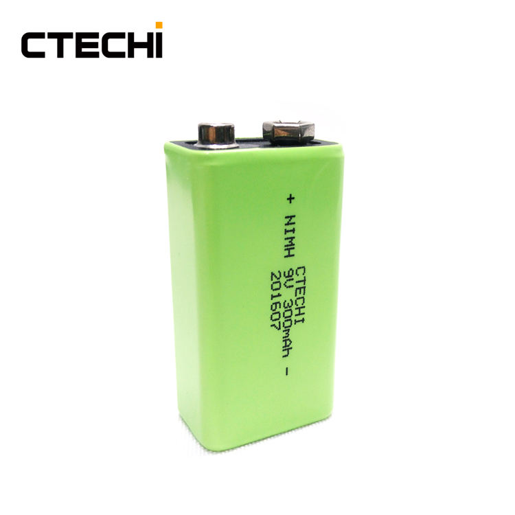 CTECHi High Capacity 9V 300mAh NiMH Rechargeable RC Battery