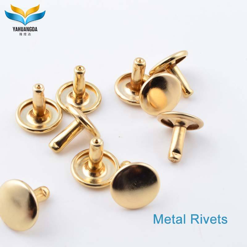 wholesale custom metal double cap rivet for leather bags
