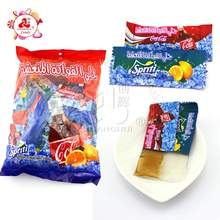 Cola and lemon jelly in bag
