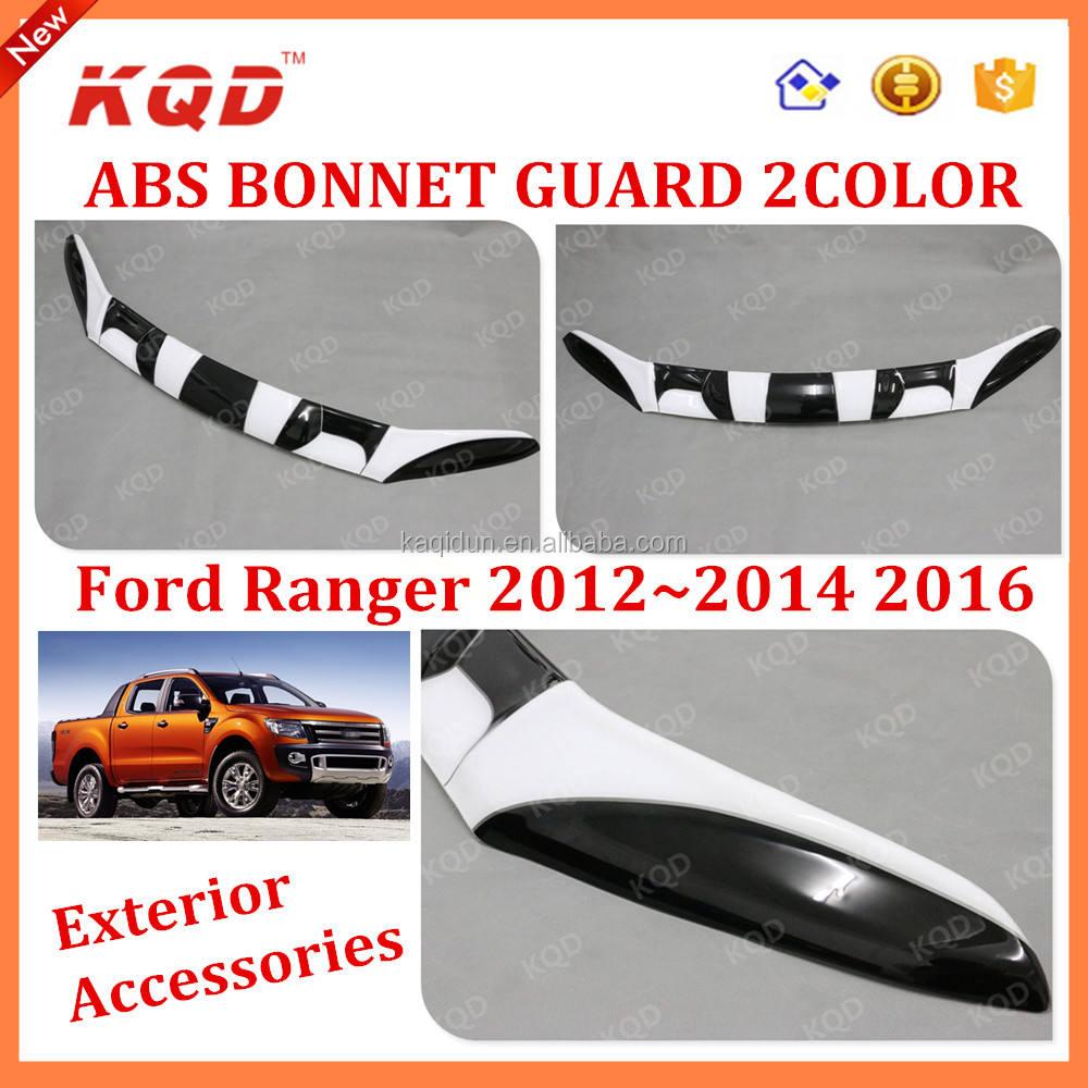 Tailored Black Bonnet Deflector Acylic Hood Stone Bug Protector Guard for Ford Ranger 12-15