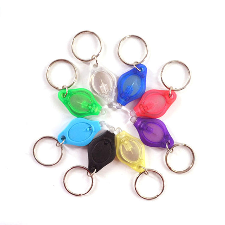 Mini Led Light Keychain UV Flashlight , UV Flash Light Keyring, Plastic Flashlight