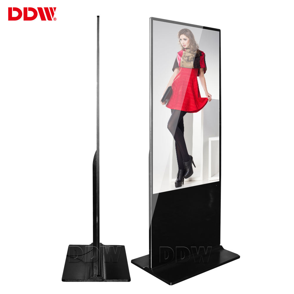 Hot sales 43 inch FHD ultra thin lcd in store advertising display screen wifi 4G slim digital signage