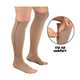 Wholesale Open Toe Knee Length Zipper Sporty Long Sock Compression Hosiery Calf Support Stocking