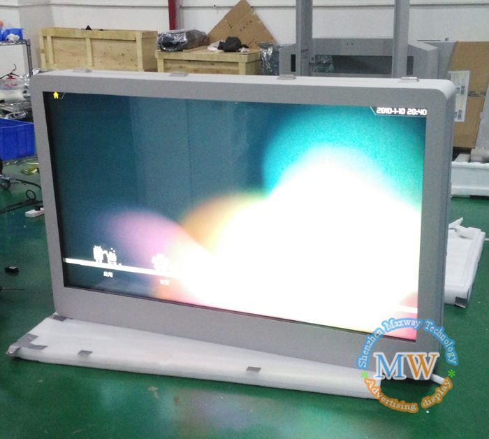 55 inch Foor Stand Digital Signage 2000 Nits Kiosk Lcd Outdoor Advertenties Monitor Display Media Player