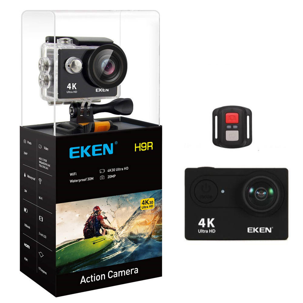 Asli Eken Tahan Air Olahraga Kamera Kamera Video 4 K WIFI Eken H9R Action Camera