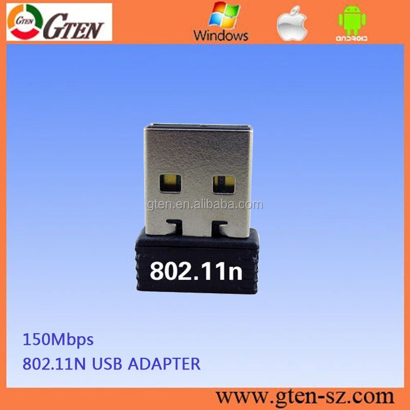 2015 hotsale mini 150 Mbps 2.4 Ghz <span class=keywords><strong>rtl8188cus</strong></span> 150 Mbps mini usb wifi adaptateur sans fil lan réseau