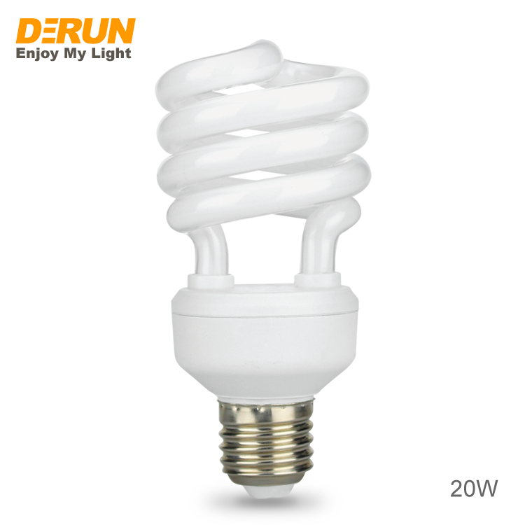 Hot Sales Wholesale half or full spiral compact fluorescent energy saving lamp E27 B22 cfl saver light bulb factory , CFL-SPIRAL