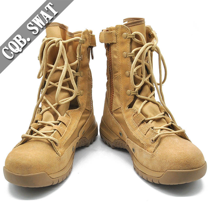 Cow suede Upper Material and eva & Rubber Outsole material army boots for men