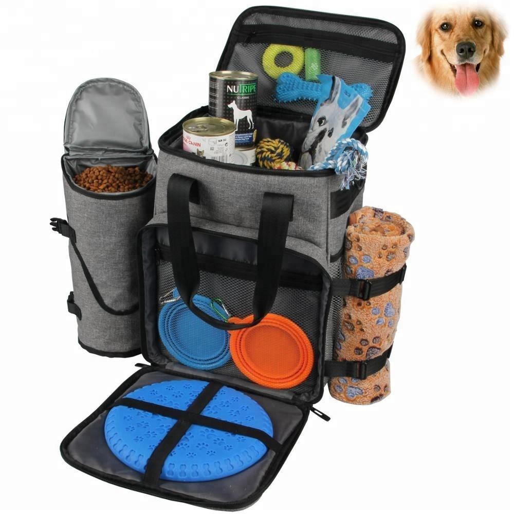 Airline Carry On Pet Travel Bag for Dog & Cat One Week Away, Tote Organizer Bag for Dogs Travel
