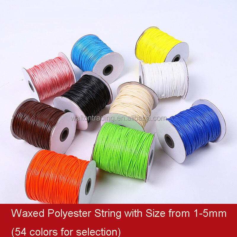 Wax Coated Polyester String/Cord for Bracelet