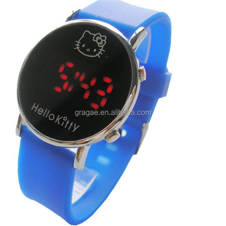 2015 mode bonjour kitty LED montre
