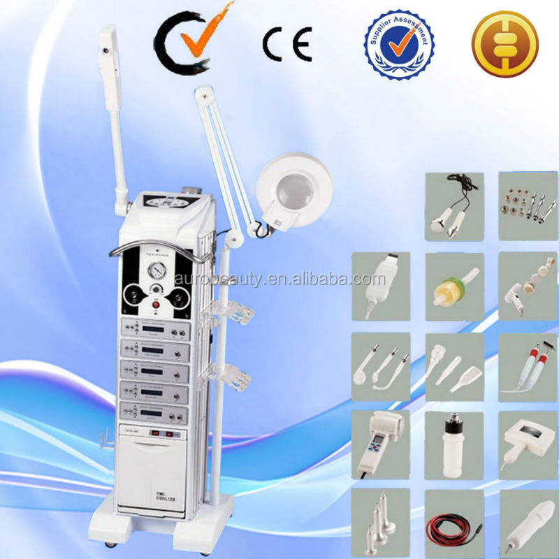 CE 17 in 1 Multifunctional Ultrasonic beauty hot cold hammer facial massage machine AU-9988