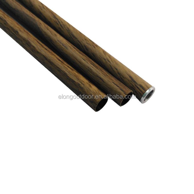 Agalloch Hạt Gỗ Sp400-600 Thiết Bị của Bắn Cung Gỗ Camo Sợi Carbon Tinh Khiết Trục