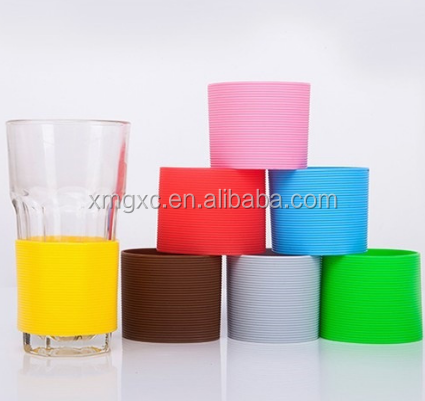 common size silicone sleeve for glass cup