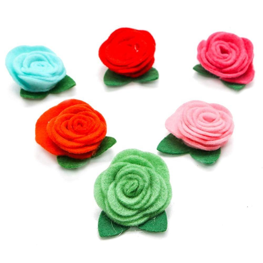 Handmade Felt Flowers for Crafts Headbands Clothes Craft Accessories