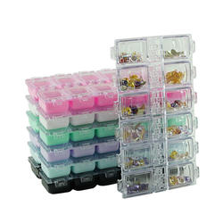 12 Grids Clear Storage Box Jewelry Organiser for Diamond Embroidery, Nail Art Decoration, Glitter Rhinestone, Earring Bead, DIY