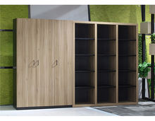 Modern luxury funky wood office equipment filing cabinet combination cabinet /office book shelf