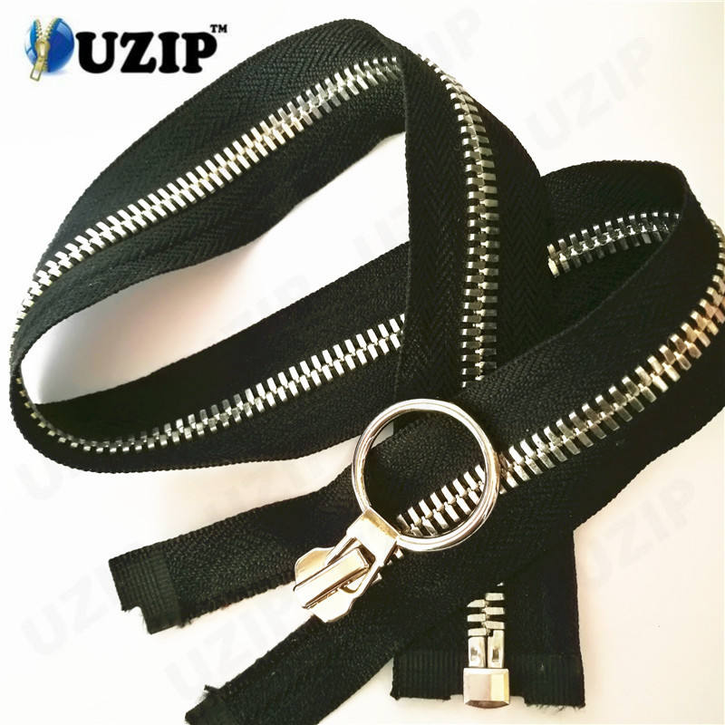 Garments accessories one-way separating zipper and coat zippers suppliers with great price