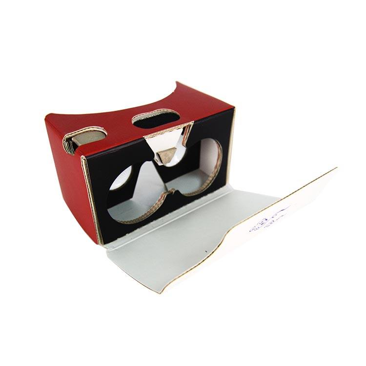 Hand made recycled cardboard paper 3D VR glasses virtual Box virtual reality glasses package box