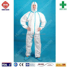 overall suit Chemical hazard protective coverall HazMat Suits protection hazmat suit