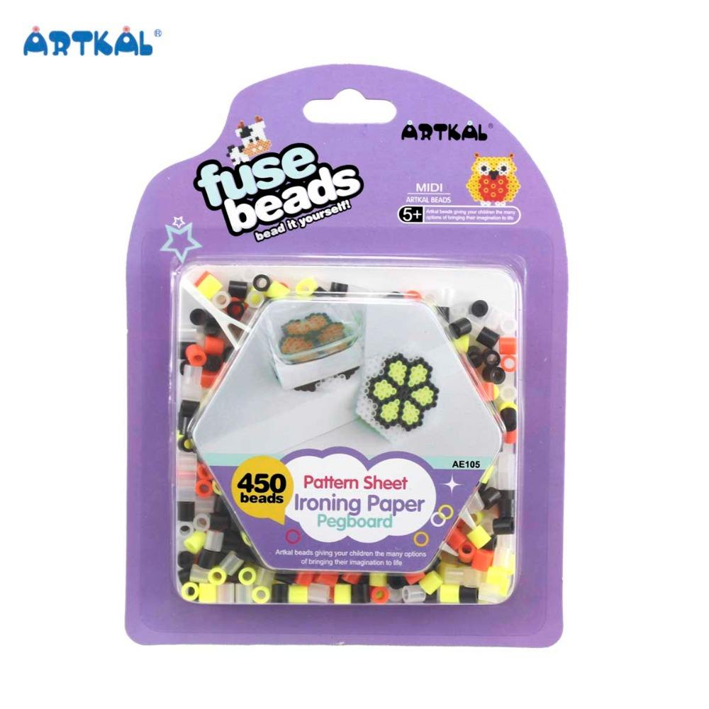 Direct Selling Cartoon Toys Plastic Artkal Fuse Hama Beads Set for Kids