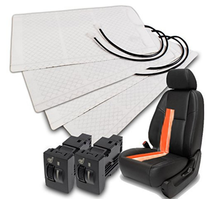 KBD Universal Car Seat Heater Carbon Fiber Seat Heatr Kit 2 Seats