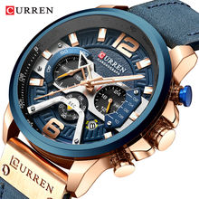 CURREN 8329 Men Quartz Tactical Watches Sport Casual Top Brand Luxury Military Leather Fashion Chronograph Wrist Watch