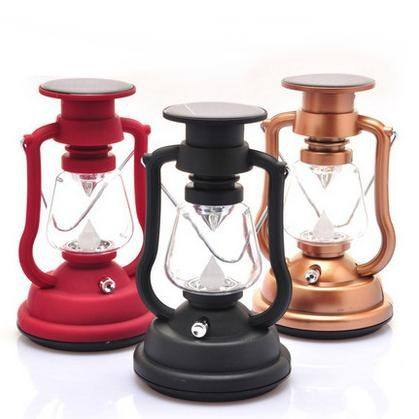 New products Solar lantern Camping lantern Handle crank 7 LED solar lantern