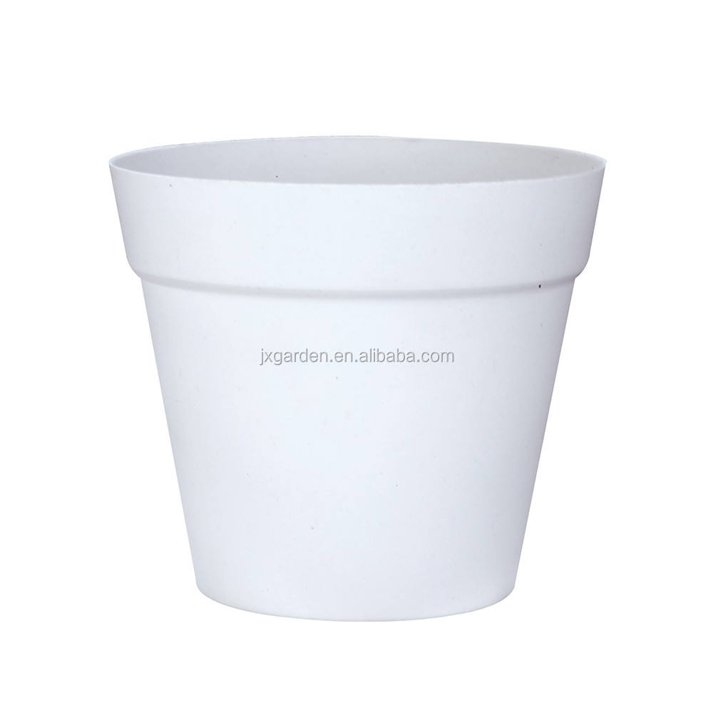 "Wholesale cheap 4"" small plastic garden flower pots white plant pot plastic"