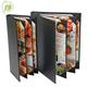 Classical 4 panels 6views corner panels pu leather menu holder
