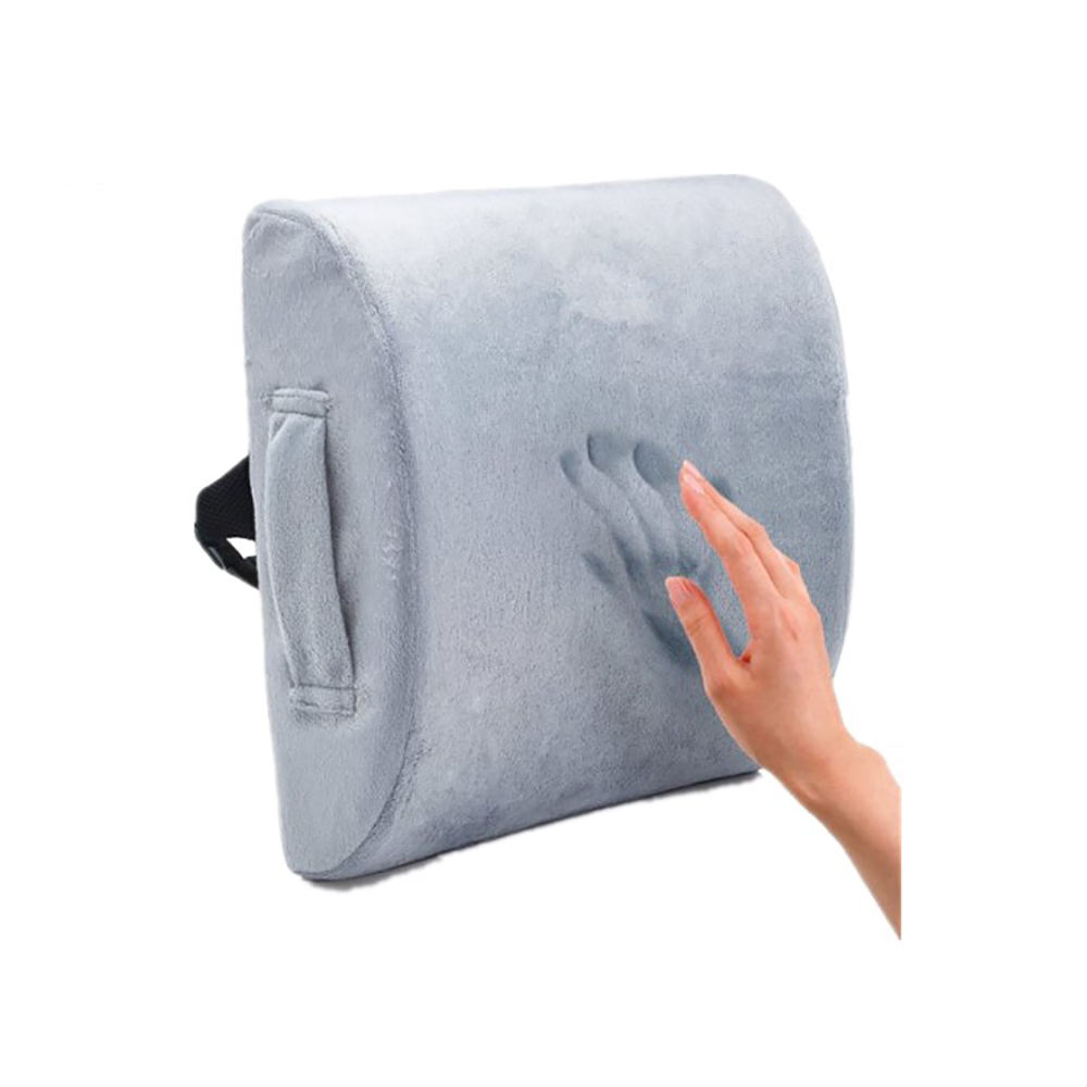 Wheelchair Foldable Backrest Memory Foam Orthopedic Car Lumbar Back Support Cushion Back Pain Cushion for Sofa Office Chair
