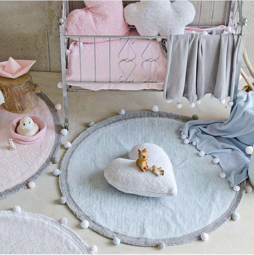 Hot selling 47*47inch cotton soft fuzzy floor mat baby crawling sleeping rugs paly mat for living room decoration