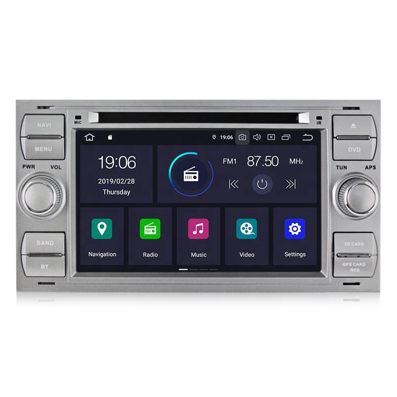MEKEDE 4core PX30 Android 9.0 2din car dvd player For Ford Focus 2 Mondeo S C Max Fiesta Galax with IPS DSP VIDEO OUT 2+16GB GPS
