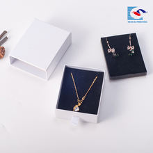 Cheap drawer box earrings and necklace jewellery packing box with custom logo