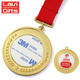Personalised Engraved Custom Made Gold Plated Metal Unique Laser Name Blank Medal With Printing Sticker Inserts Logo