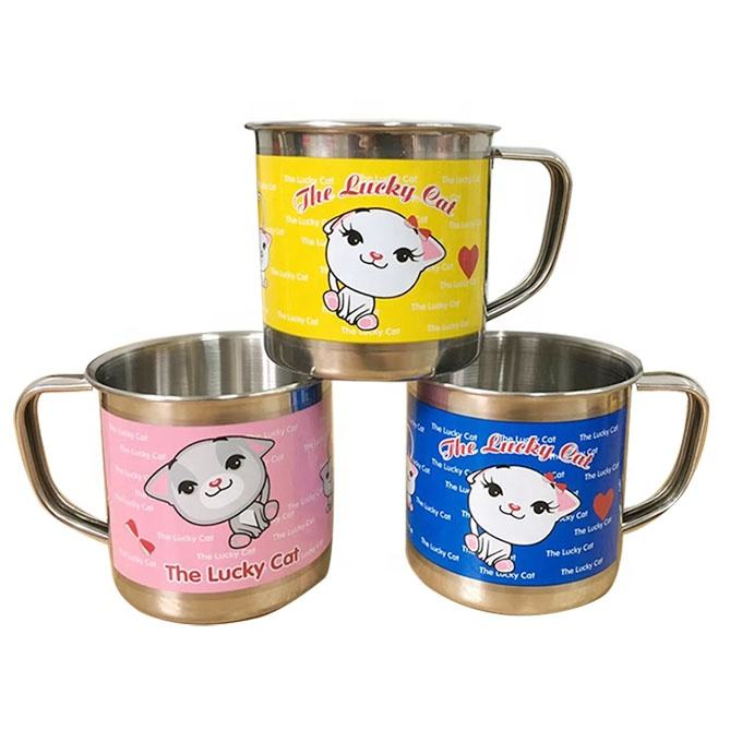 China wholesale SS304 children's water cup metal cup milk cup