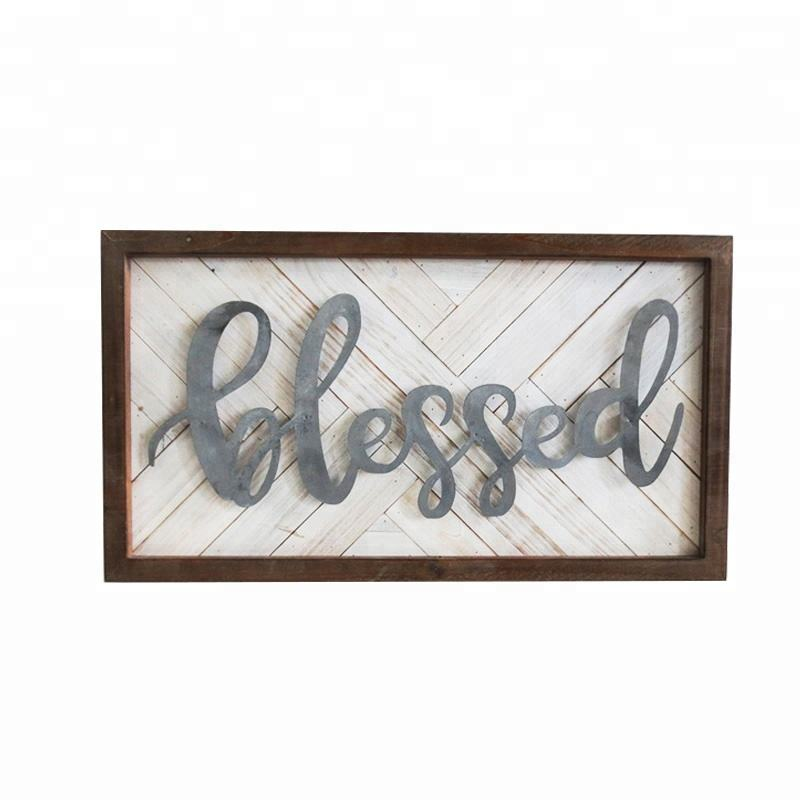 China Customized Wood Sign Wall Plaque manufacturer