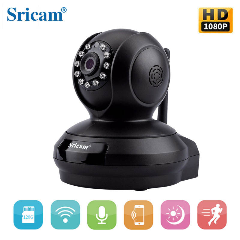 1080 P HD 2.0MP SP019 CMOS SD Card Rekam Remote Control web Sricam H.264 IP Kamera