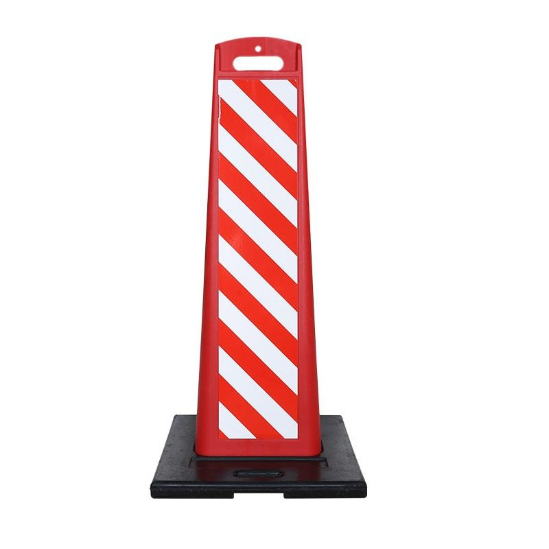 road delineators warning bollard 110cm red and white