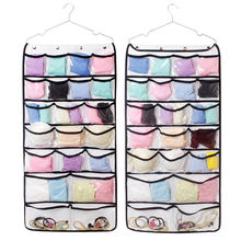 double sided transparent hanging bag,organiser storage 42 pockets,bra organizer