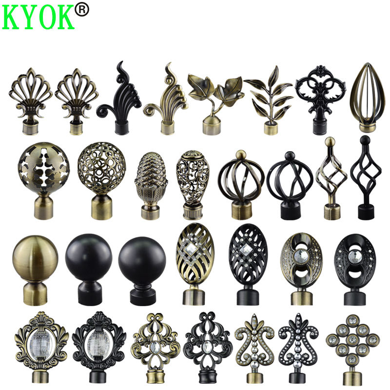 Polished Brass Asian decoration Classic Finial for curtain 28MM curtain rod