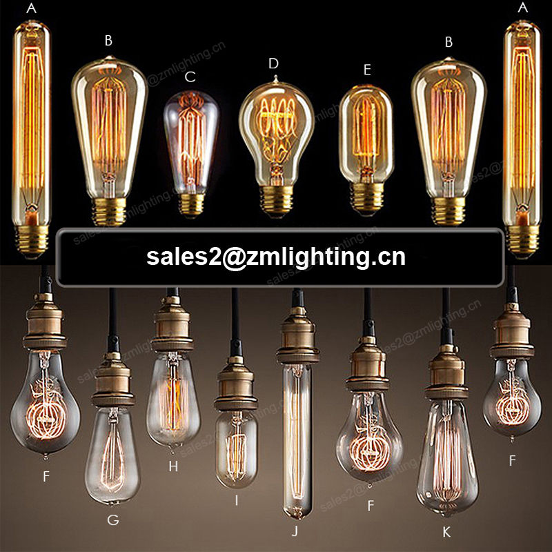 Fabrikanten Retro Licht ST64 ST58 T30 T45 G80 G95 G125 E26 E27 25 w 40 w 60 w Decoratieve Glas Vintage <span class=keywords><strong>Gloeilampen</strong></span> Edison Bulb
