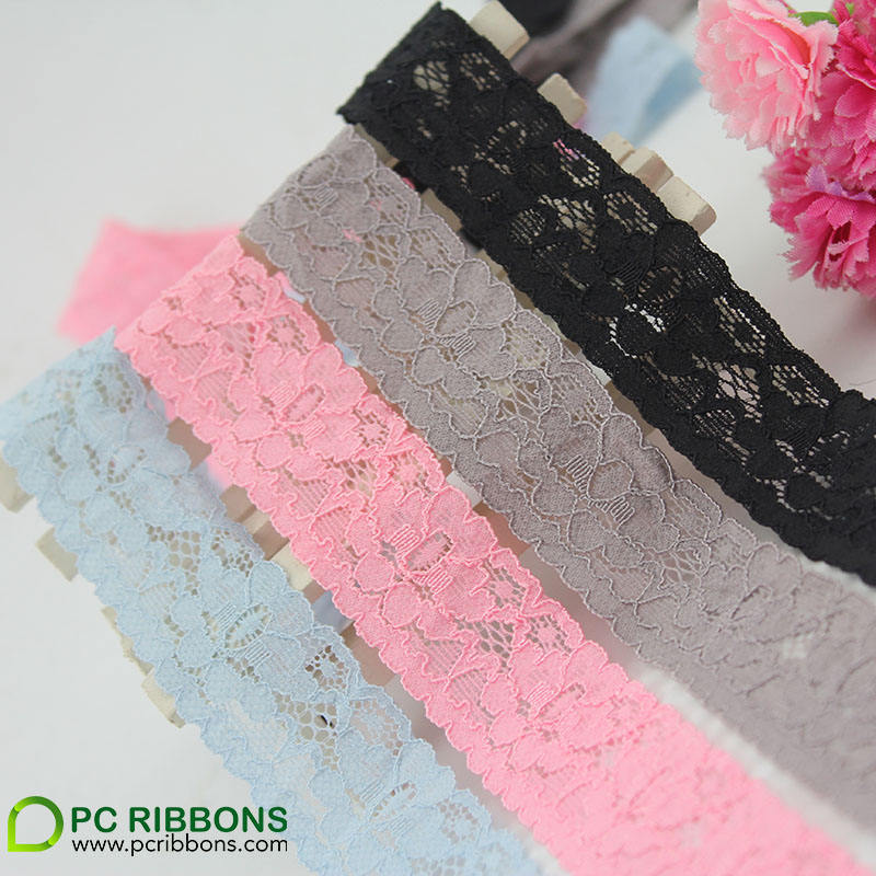 PC 26mm high quality elastic lace fabric for garment