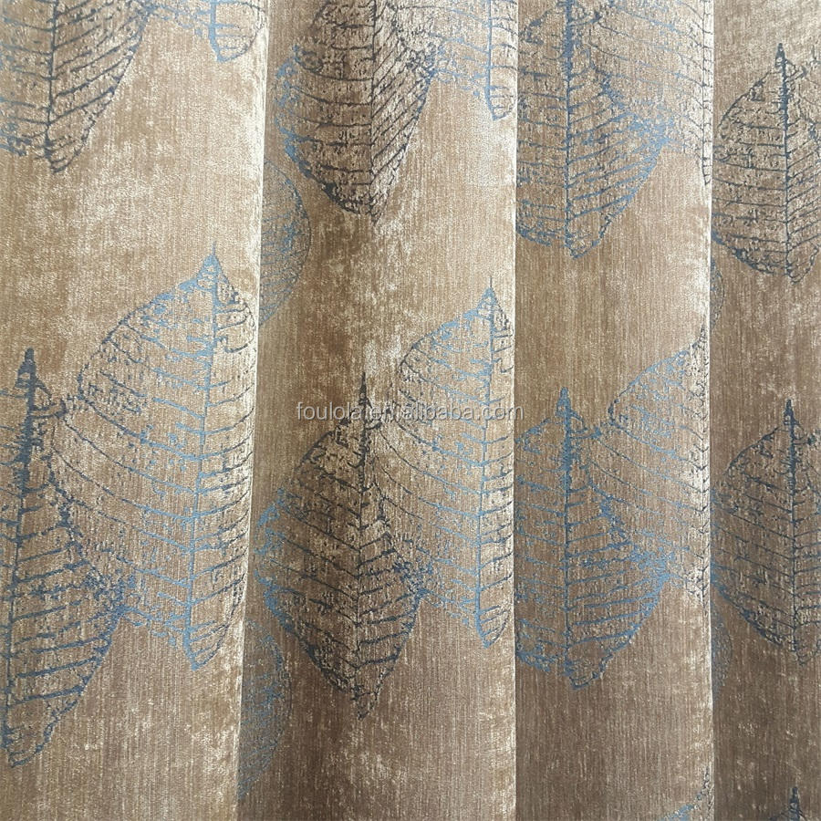 New heavy weight chenille jacquard fabric velvet curtain fabric curtain wall